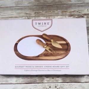 Twine Living Co. Gourmet Cheese Board Gift Set